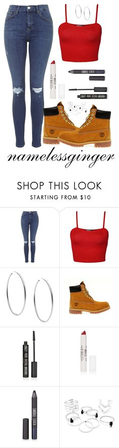 """""""untitled #413"""" by namelessginger ❤ liked on Polyvore featuring Topshop, WearAll, Michael Kors and Timberland"""
