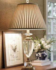 solid crystal table lamp; beautiful vignettes; crystal home lighting