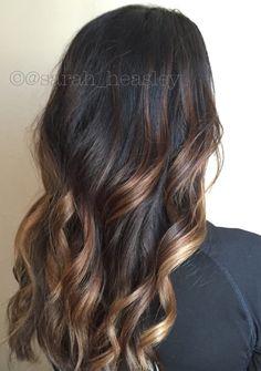 Hairpainting, balayage, contrast