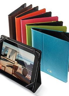 The perfect gift for the technology lover in your life, the Leather iPad Case with Stand offers stylish protection for an iPad while also serving as a hands-free way to enjoy movies, video and surfing.