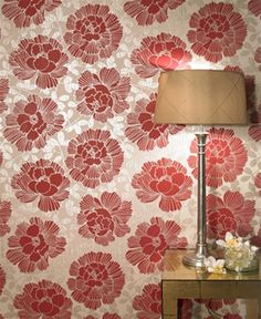 Manderley Claret Wallpaper of the Mode Collection - Graham & Brown