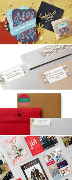 Are you ready for a jubilant holiday season? Personalize your holiday cards with matching envelopes and address labels for an elevated suite.