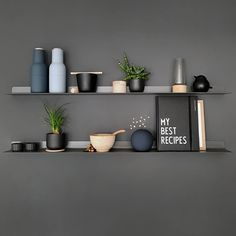 Happy new week! How gorgeous is this shelfie by 👈🏻 Menu Bottle Grinders in blue are now back in stock 💫 . Home Decor Kitchen, Kitchen Interior, Interior Accessories, Interior Styling, Industrial Style Lamps, Objet Deco Design, Black Wall Decor, Home Upgrades, Kitchen Trends