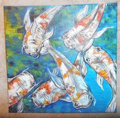 Original Acrylic Koi Painting