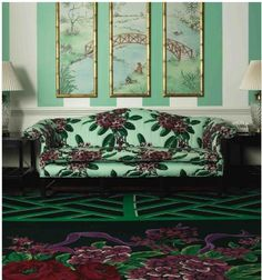 Eye For Design: Hollywood Regency Design.Dorothy Draper Style At The… Home Interior, Interior And Exterior, Interior Decorating, Modern Interior, Vert Turquoise, Garden Studio, Hollywood Regency, Furniture Collection, Decoration