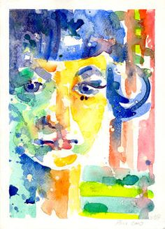 "Saatchi Art Artist Petra Pu-Novoselec; Painting, ""Self-portrait"" #art"