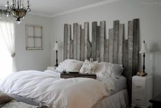 DIY Rustic Headboard For Your Master Bedroom