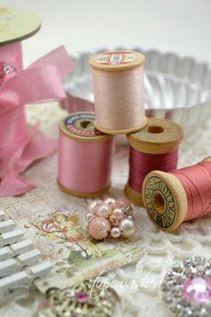 Shades of pink thread