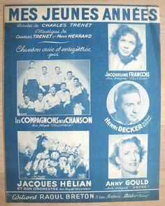 MES JEUNES ANNÉES - CHARLES TRENET - 1959 - HENRI DECKER - JACQUELINE FRANCOIS   eBay