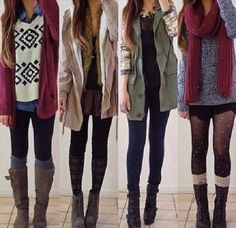 Cute outfits for winter time