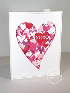 Card by PS DT Emily Leiphart using the PS Sweet Hearts stamp set