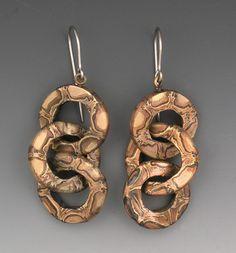 Hadar Jacobson metal clay earrings
