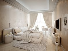 спальня в современном стиле, интерьер спальни, дизайн квартиры в современном стиле, интерьер в современном стиле