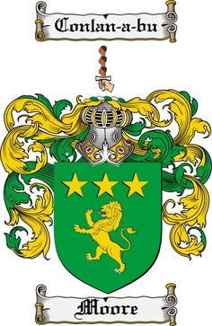 $7.99 Moore Coat of Arms Moore Family Crest Instant Download