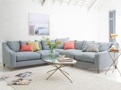 The Oscar corner sofa is handmade by our skilled team in Long Eaton, England. It's insanely comfy and comes with gorgeous weathered oak legs.