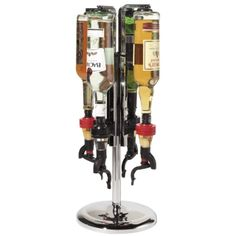 4-Bottle Revolving Liquor Dispenser, from GreatGiftsforMen.com