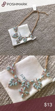 NWT J Crew Necklace NWT J. Crew Gold Necklace with Pretty Pastel Statement Design. FIRM $ J. Crew Jewelry Necklaces