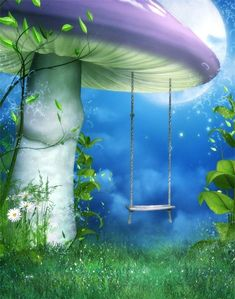 studio backdrop on sale at reasonable prices, buy Fantasy big mushroom CP Computer-painted Scenic Photography Background Photo Studio Backdrop from mobile site on Aliexpress Now! Fantasy Background, Landscape Background, Scenic Photography, Photography Backdrops, Swing Photography, Product Photography, Digital Photography, Cartoon Background, Background Images