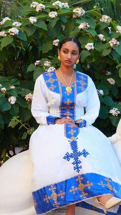 8373f3ecb212 AmiiLux traditional Habesha blue wedding dresses.6 Синие Свадебные Платья,  Африканский Наряд, Африканские