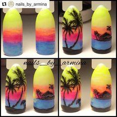 Summer Acrylic Nails, Summer Nails, Ocean Nail Art, Fruit Nail Art, Sea Nails, Galaxy Nail Art, Nail Drawing, Airbrush Nails, Animal Nail Art
