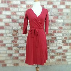 Organic Fair Trade Wrap Dress Global Girlfriend knit handmade fair trade wrap dress made in India. Never worn! Global Girlfriend Dresses