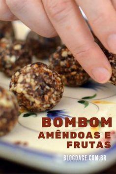Receita: bombom de amêndoas e frutas secas (sem açúcar e sem lactose) - Blog da Gê