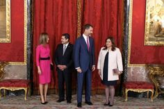 King Felipe and Queen Letizia of Spain received audiences at Zarzuela Palace, Madrid 10/1/2014