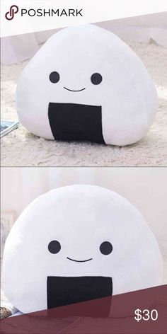 Kawaii Onigiri Pillow Plush Sushi Rice Ball New Large - Japanese Rice Ball Sushi Pillow, Cushion, Plush Toy. Prepare for great food fight. Adorable Onigiri Pillow, soft, cute and perfectly huggable. Excellent gift for anyone: foodie friends, family, babies, even pets will love it! Great pillow to take in the car or while traveling too. -Brand new. -12 Inches Tall -Kawaii Other