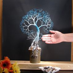 Wire Tree Of Life sculpture Spirit of Peace by CrowsFeathers