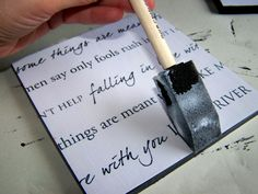 Song Lyrics for Wall Hanging~think will be doing this with our song You're Still the One by Shania Twain....great idea