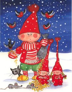 Postcrossing postcard from Finland Magical Christmas, Christmas Art, Winter Christmas, Vintage Christmas, Christmas Cartoons, Christmas Clipart, Christmas Greetings, Scandinavian Kids, Scandinavian Christmas