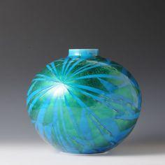 YURIKINSAI TSUBO (Jar in underglaze gold)