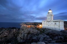 Lighthouse At Capo Testa, Sardinia, by David Yoder