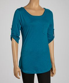 Take a look at this Blue Jade Ballet Neck Top on zulily today!