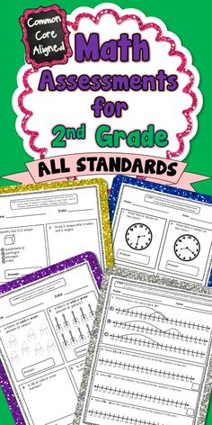 This 60+ page assessment bundle contains quick math assessments for every 2nd Grade Common Core Math Standard. There are at least 2 assessments included for each standard. These assessments packs are also available for grades 1,3,4, and 5!