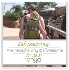 When dad wears his baby in a baby carrier, everyone wins!