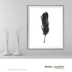 Plume d'aquarelle imprimer imprimable Art par DesignAuctionsNow