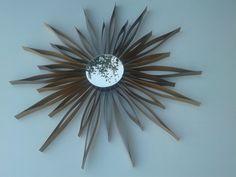 specchio artigianale in legno-mirror wood- miroir-sole-stella-pezzo unico-legno-impellicciatura -arredamento casa-OOAK di lovelymore su Etsy