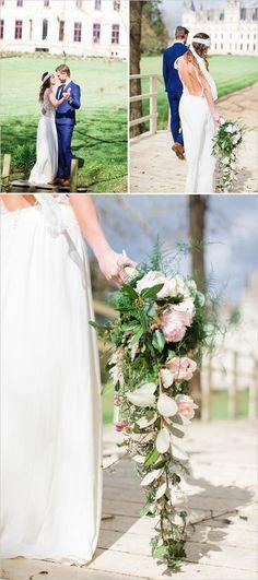 Bohemian elegance done beautifully! Captured by: Cat Hepple Photography #weddingchicks http://www.weddingchicks.com/2014/07/28/bohemian-elegance-wedding-in-france/
