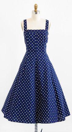 vintage 1950s style polkadot dress | retro rockabilly dress | http://www.rococovintage.com #rockabilly