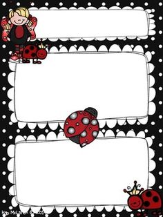 Ladybug Newsletter Template Freebie!!