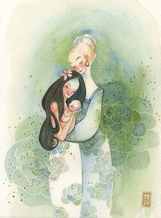 alinachau:   https://www.etsy.com/listing/130533819/illustration-art-watercolor-painting Mothers and Daughter,Print, 8.5x11inch, $25 https://www.etsy.com/listing/130534551/illustration-art-watercolor-painting