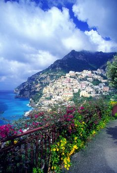 Positano in Sierno Province, Amalfi Coast, Italy by Medioimages/Photodisc