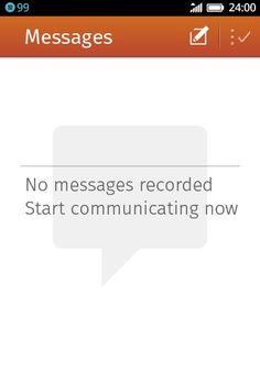 SMS bandeja de entrada vacía