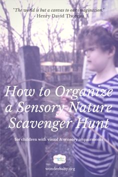 Get your kids outside! Here's a list of nature sensory scavenger hunts along with a few tips and tools to entice every kid to get out and discover nature!