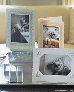 homemade photo cards