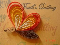 Faith's Quilling: Art of quilling, Paper craft, Quilled butterfly, Quilling