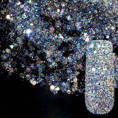Dazzling Abalone Transparents Sequins Dust DIY Nail Glitter Decorations Nail Art Designs Blue Acrylic UV Mix Glitter Powder 282