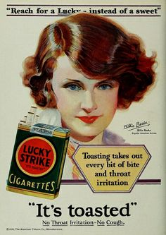 Vintage Advert for Lucky Strike Cigarettes : Photoplay July 1929 by CharmaineZoe, via Flickr