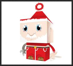 This christmas papercraft is a Santa Claus in cube style, designed by pixmania. There are other christmas Santa Claus paper crafts here: Santa Claus Paper